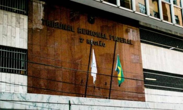 Sede do Tribunal Regional Federal da 2ª Região no Rio de Janeiro Foto: Divulgação
