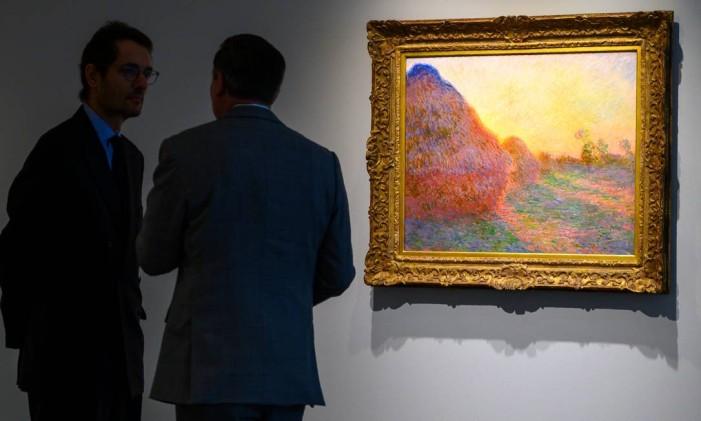 A tela 'Les meules', de Claude Monet Foto: DON EMMERT / AFP