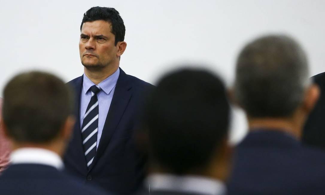 O ministro da Justiça, Sergio Moro, participa de seminário Foto: Marcelo Camargo/Agência Brasil/14-05-2019
