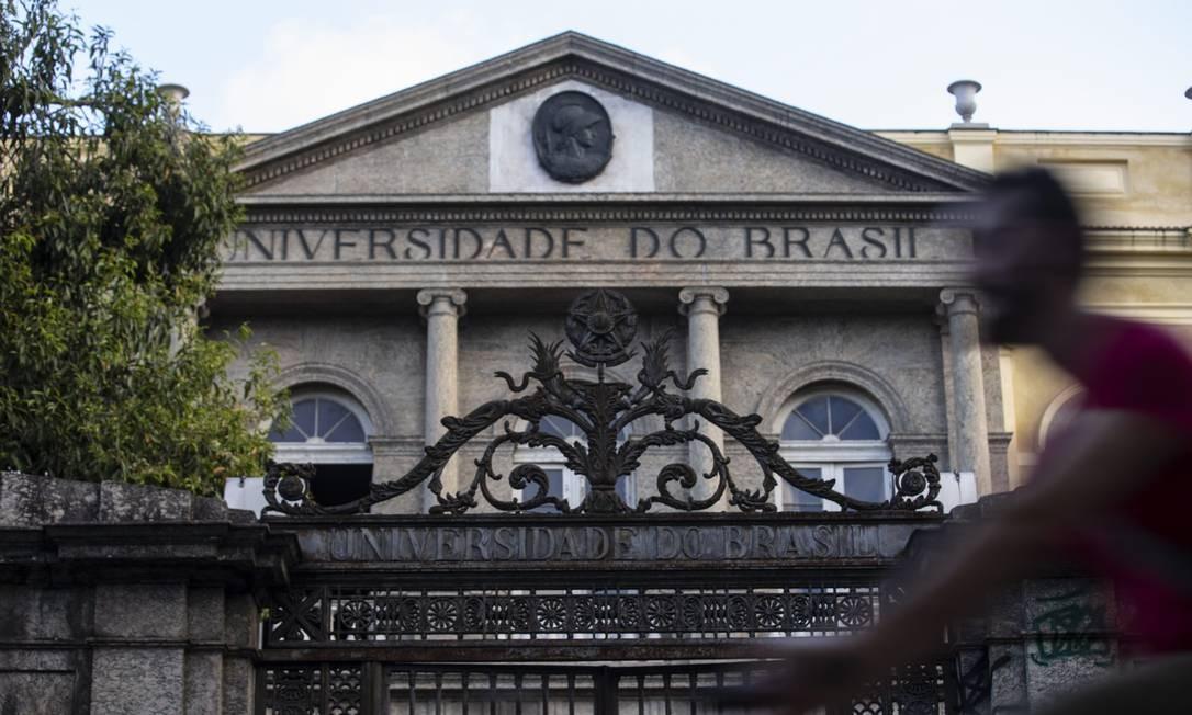 RI Rio de Janeiro (RJ) 05/09/2018 - Predio da UFRJ na Urca. Foto Alexandre Cassiano / Agência O Globo. Foto: Alexandre Cassiano / Agência O Globo