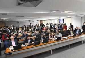 Sessão da Comissão de Constituição e Justiça do Senado Foto: Pedro França/Agência Senado