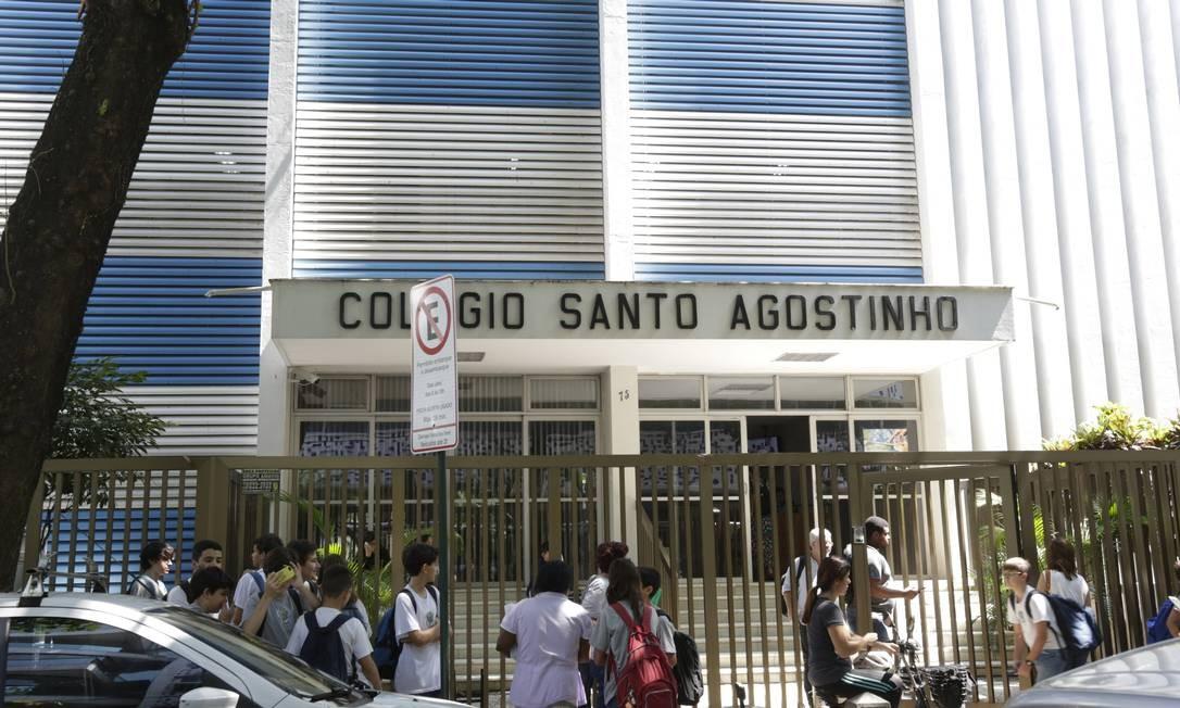 Fachada do Colégio Santo Agostinho Foto: Marcos Ramos / Agência O Globo