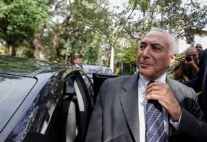 O ex-presidente Michel Temer foi lembrado por Bolsonaro pelo trabalho no acordo Mercosul - União Européia Foto: STRINGER / REUTERS