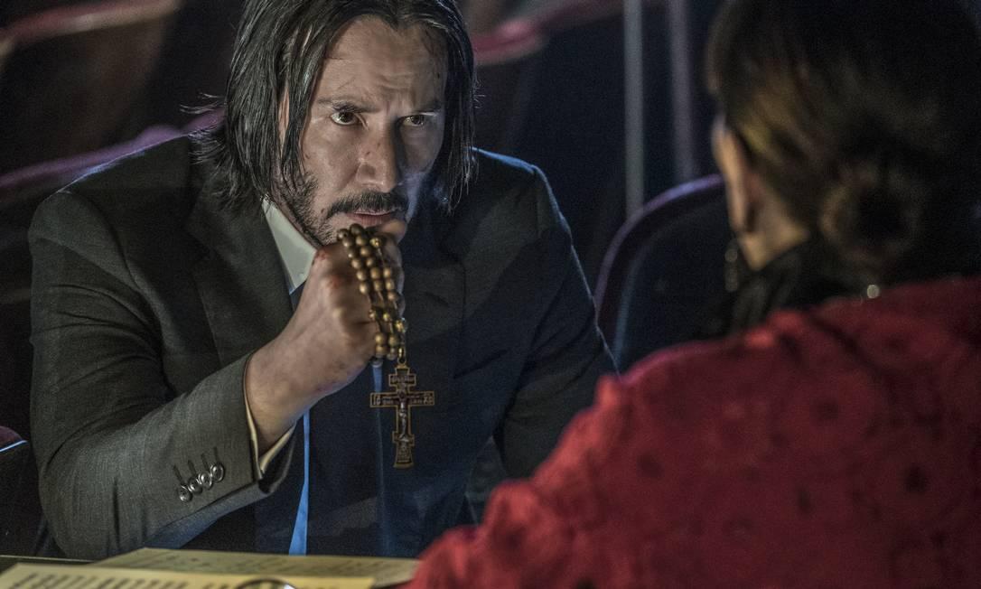 """CULTURA - Filme """"John Wick 3 - Parabellum"""", com Keanu Reeves. Divulgação/Niko Tavernise"""