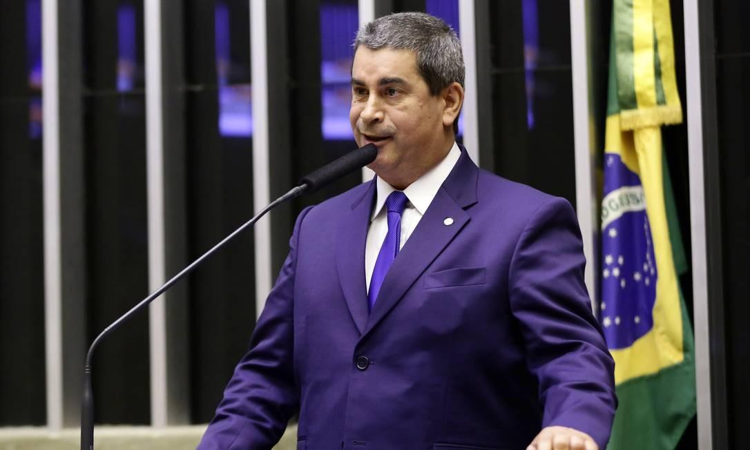 O deputado fedeal Coronel Tadeu (PSL-SP) discursa no plenário da Câmara Foto: Michel Jesus/Câmara dos Deputados/23-04-2019