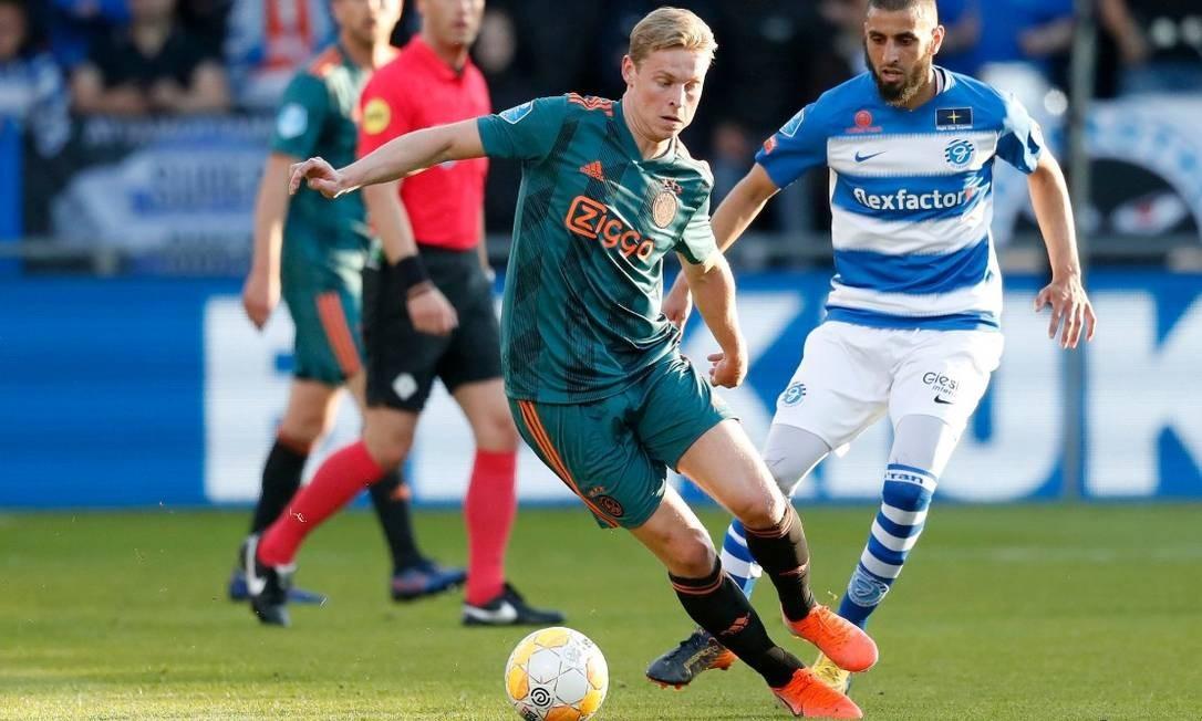 De Jong em sua última partida pelo Ajax Foto: Reprodução