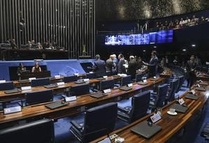 Plenário do Senado durante sessão Foto: Jefferson Rudy/Agência Senado