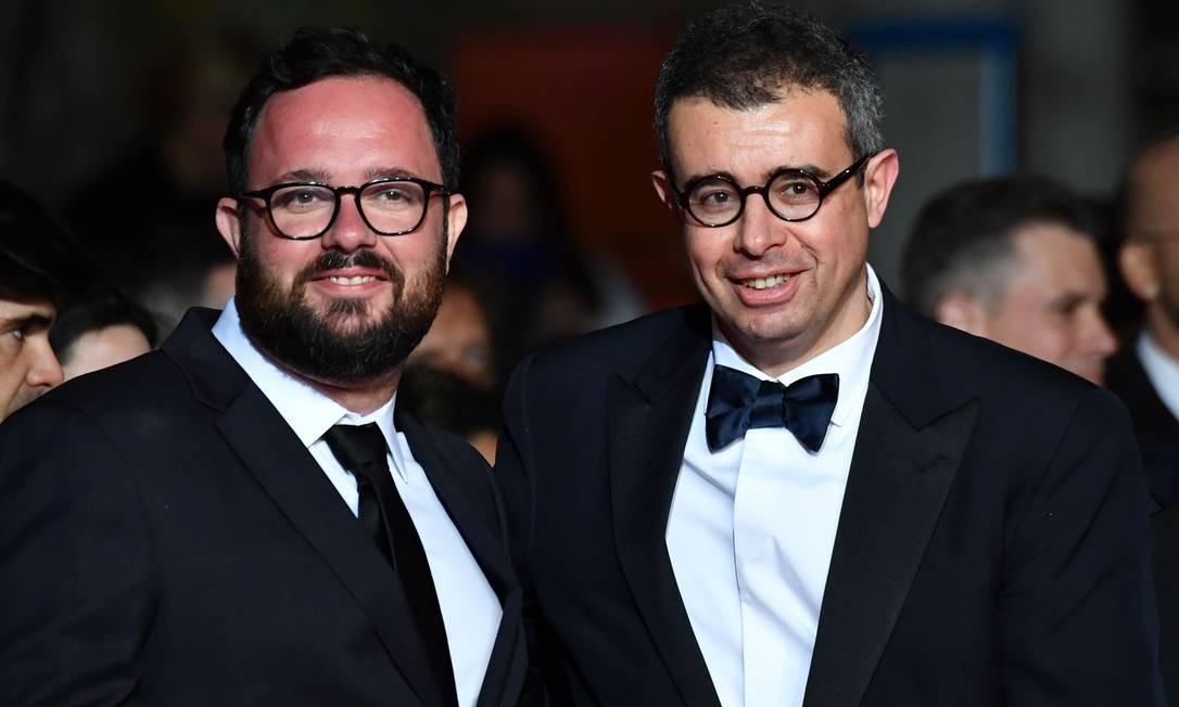 O diretor Juliano Dornelles com o produtor francês Said Ben Said Foto: ALBERTO PIZZOLI / AFP