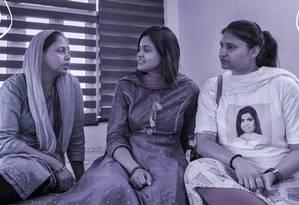 Candidatas ao Parlamento na Índia ainda sofrem preconceito Foto: Arte de Nina Millen