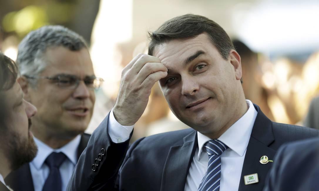 O senador Flávio Bolsonaro 06/05/2019 Foto: Gabriel de Paiva / Agência O Globo