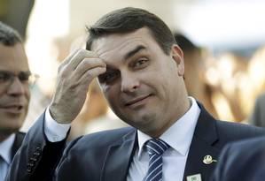 O senador Flávio Bolsonaro Foto: Gabriel de Paiva / Agência O Globo