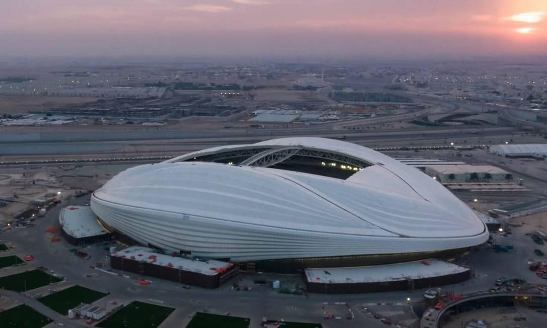 Estádio Al Wakrah chama a atenção pelo design peculiar Foto: Fifa/Divulgação