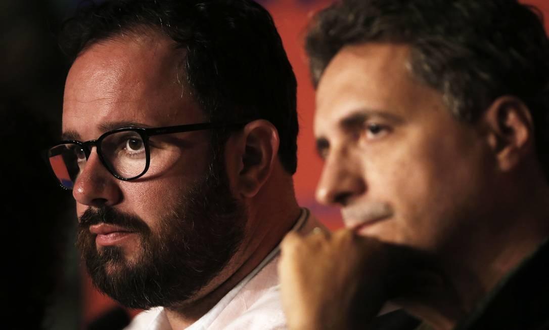 Juliano Dornelles e Kleber Mendonça Filho, co-diretores de 'Bacurau', em Cannes Foto: JEAN-PAUL PELISSIER / REUTERS
