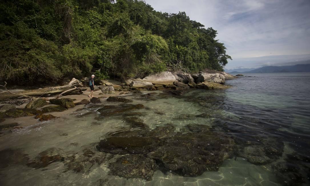 Ilha Comprida, uma das maiores da estação, e suas águas cristalinas Foto: Márcia Foletto / Agência O Globo