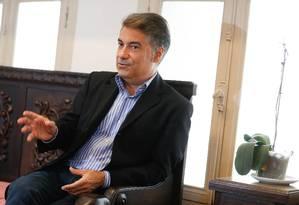 Aldo Mussi, presidente do Teatro Municipal: 'Nós não desitiremos' Foto: Roberto Moreyra / Agência O Globo