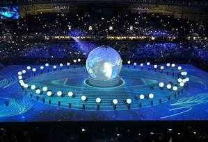 Cerimônia de abertura de estádio no Qatar Foto: Igor Siqueira