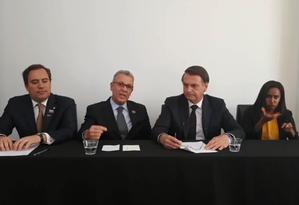 """Bolsonaro faz """"live"""" direto de Dallas, nos Estados Unidos Foto: Reprodução"""