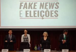 Abertura do Seminário Internacional Fake News e Eleições no TSE Foto: Daniel Marenco / Agência O Globo
