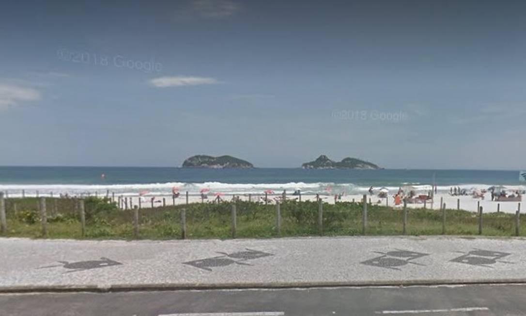 A Praia do Pepê, onde o turista desapareceu Foto: Google Street View / Reprodução