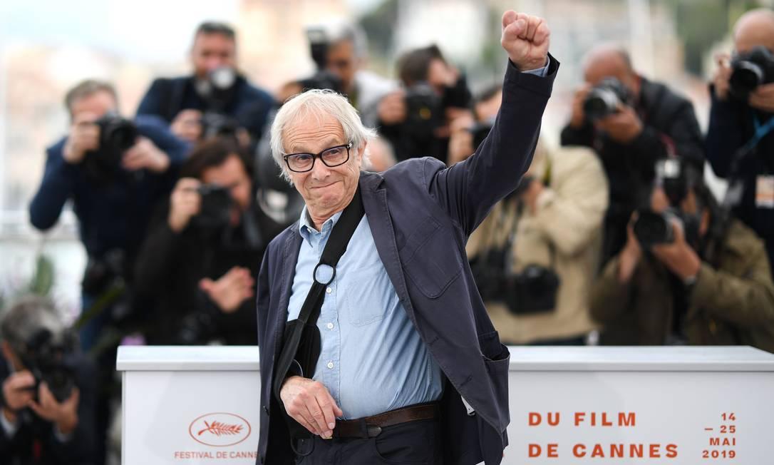 Ken Loach em Cannes Foto: LOIC VENANCE / AFP