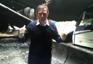 Prefeito Crivella no Túnel Acústico Foto: Reprodução/Instagram