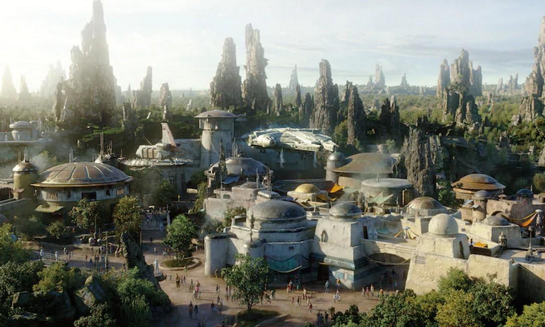 O Star Wars: Galaxy Edge, na Disneylândia: de olho nos antigos fãs da série. Foto: Reprodução/site Disney Parks