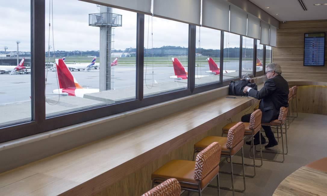 Salão VIP do Aeroporto Internacional de Guarulhos Foto: Edilson Dantas / Agência O Globo