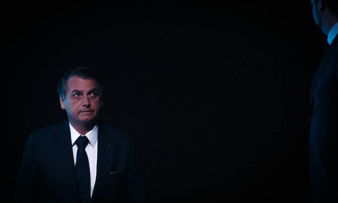 O presidente Jair Bolsonaro, no dia 10/05, em Brasília Foto: Daniel Marenco / Agência O Globo