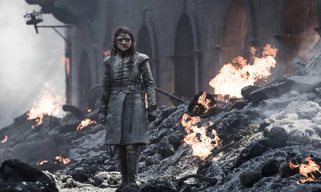 Arya Stark no penúltimo episódio da oitava temporada de 'Game of thrones' Foto: Divulgação