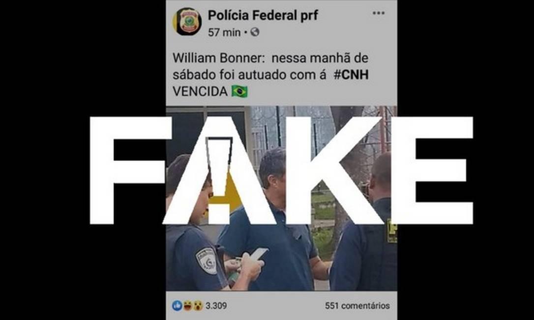 Mensagem que circula na internet é falsa Foto: Reprodução
