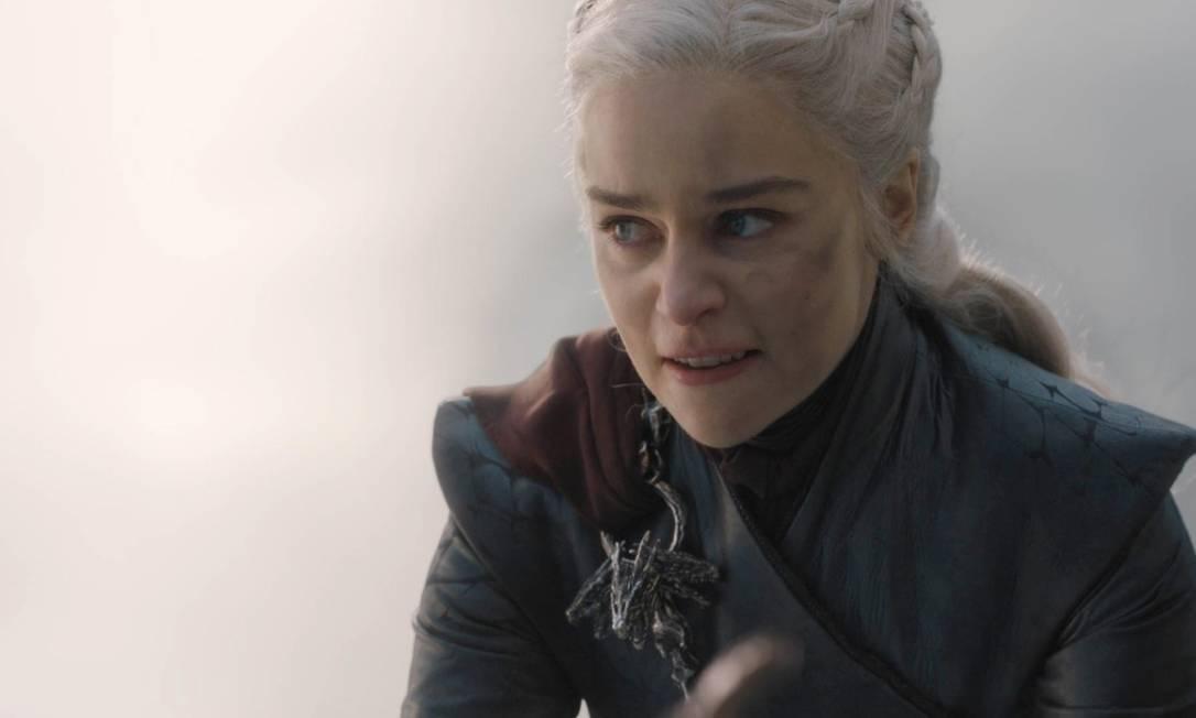 Daenerys Targaryen (Emilia Clarke) em 'Game of thrones' Foto: Divulgação