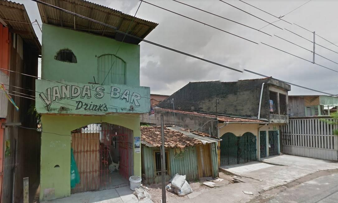 Antiga fachada do bar onde bandidos armados deixaram 11 mortos neste domingo, em Belém Foto: Reprodução/Internet