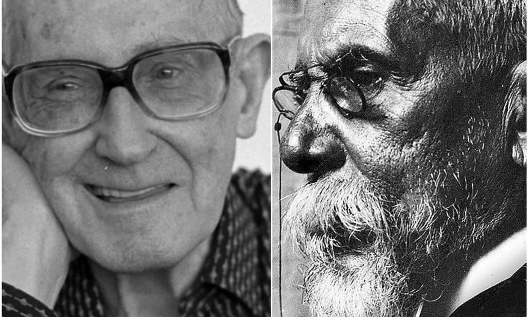Carlos Drummond de Andrade e Machado de Assis: poeta reviu a obra do Bruxo do Cosme Velho Foto: Arquivo