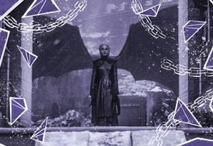 A Mãe dos Dragões pretendia iniciar novas guerras em Westeros Foto: Arte de Nina Millen sobre foto reprodução