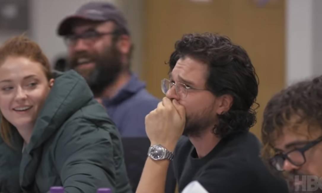 Kit Harington chora durante leitura de roteiro de 'Game of thrones' Foto: Reprodução