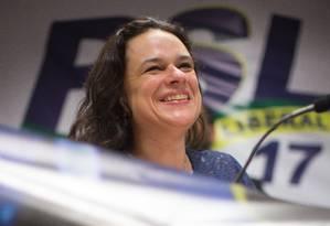 Janaina Paschoal foi eleita no ano passado pelo PSL, mas agora fala em deixar partido: ela foi a mais votada para a Alesp Foto: Edilson Dantas / Agência O Globo