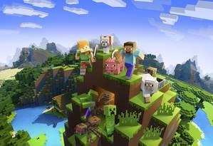 Mundo aberto em Minecraft: realidade aumentada vai turbinar game. Foto: Reprodução.
