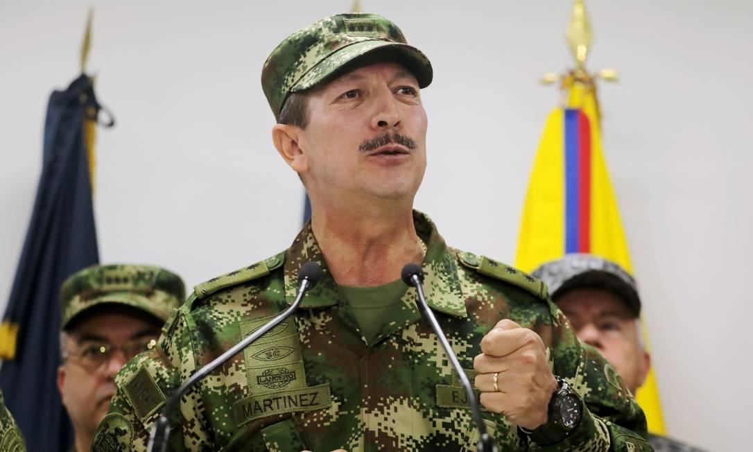 O major-general Nicacio Martínez Espinel, comandante do Exército colombiano Foto: LUISA GONZALEZ / REUTERS