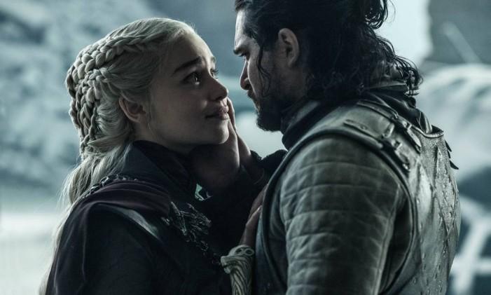 Daenerys e Jon Snow em seu último encontro Foto: Divulgação