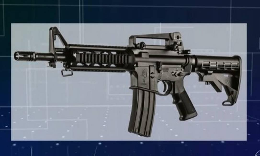 O fuzil T4 está entre as que deixaram de ser de uso restrito Foto: Reprodução