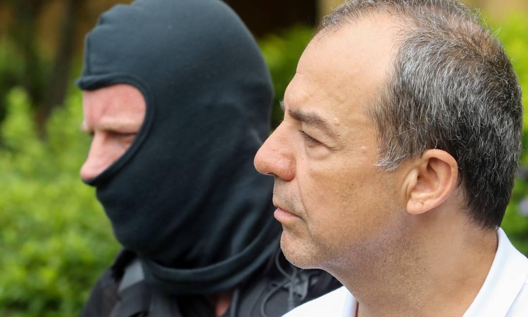O ex-governador do Rio de Janeiro Sergio Cabral, realiza exame corpo delito no IML em Curitiba Foto: Theo Marques/Arquivo / O Globo