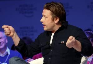 Jamie Oliver, chef de cozinha britânico Foto: Ruben Sprich / Reuters