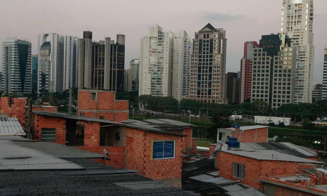 PA São Paulo (SP) 11/04/2018. Comunidade no Real parque região do Morumbi. Desigualdade social. Foto Marcos Alves / agencia O globo Foto: Marcos Alves / Agência O Globo