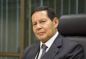 O vice-presidente Hamilton Mourão Foto: Divulgação/Presidência da República