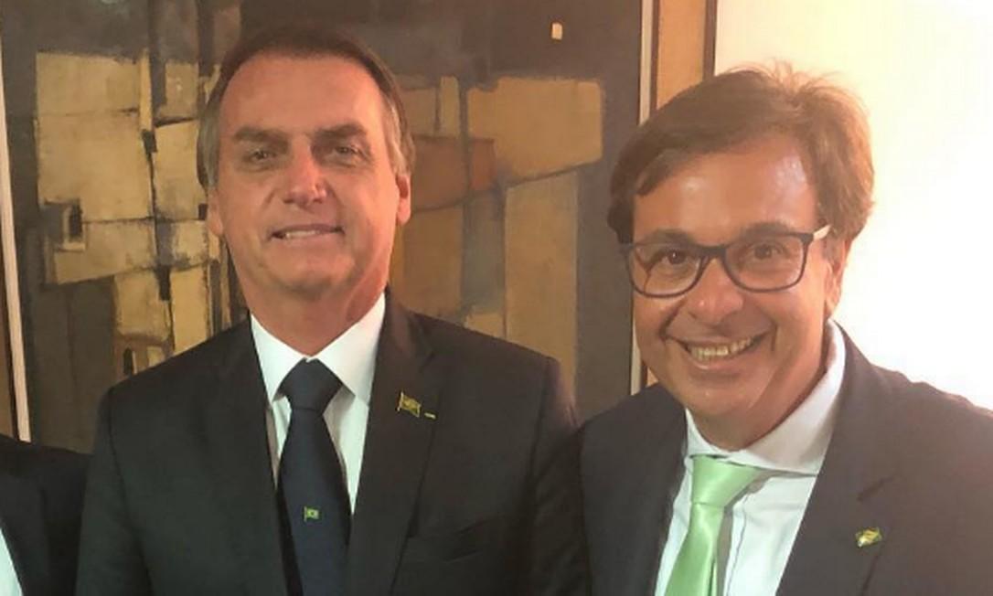 Gilson Machado Guimarães Neto ao lado do presidente Jair Bolsonaro Foto: Reprodução/Instagram