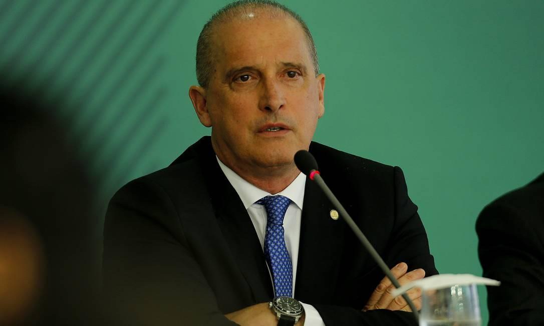 Ministro chefe da Casa Civil, Onyx Lorenzoni Foto: Jorge William / Agência O Globo