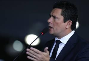 Ministro da Justiça, Sergio Moro Foto: Jorge William / Agência O Globo
