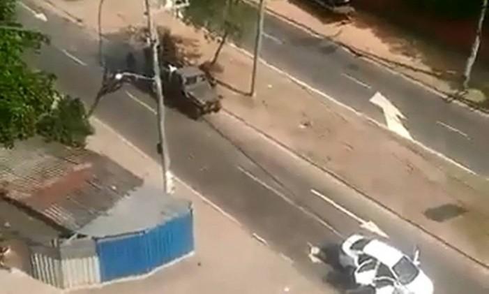 Exército atirou contra pessoas que estavam em um carro em Guadalupe Foto: Reprodução