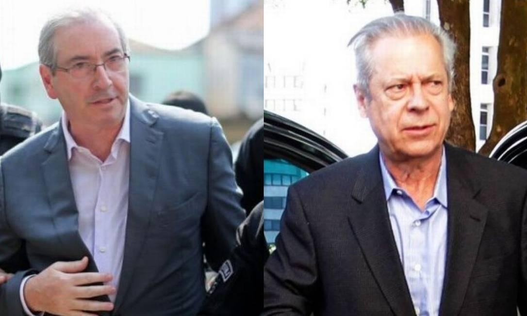 Eduardo Cunha e José Dirceu Foto: Reprodução