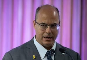 O governador do Rio de Janeiro, Wilson Witzel Foto: Mauro Pimentel / AFP